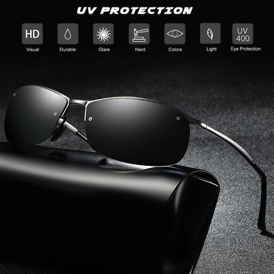 34316803105 Lightweight Metal Half-Frame Polarized Sunglasses Men Sports Vintage Sun  Glasses