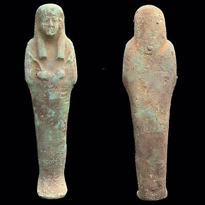 LARGE EGYPTIAN HIEROGLYPHIC SHABTI, LATE PERIOD 664 - 332 BC (12) 22cm Tall !!!!