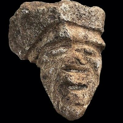 Ultra Rare Stone Age Ancient Neolithic Anthromorphic Vinca Bust, 4500Bc (5)