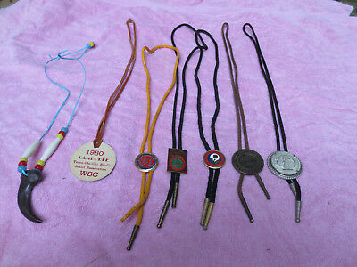 Vintage Boy Scouts  Bolo Slide Tie collection Commissioner Order of the Arrow ++