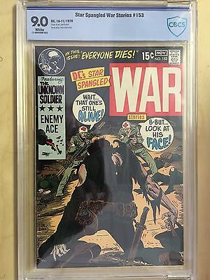 Star Spangled War Stories   153    CBCS Graded Comic  9.0  Unknown Soldier  1970
