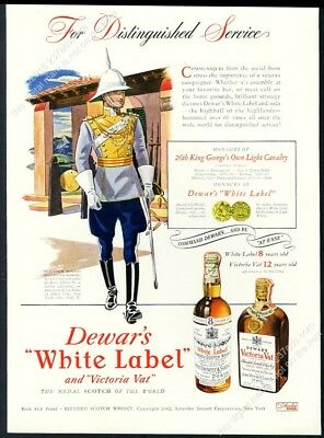 1943 Dewar's White Label Scotch whisky 26th King George's Own Light Cavalry ad