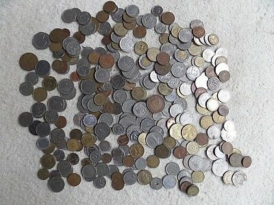 Job Lot Collection of Vintage Tender Change FOREIGN COINS Cash Money Currency #2