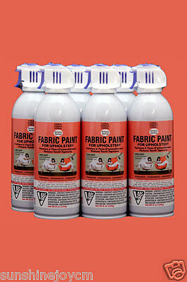 Upholstery Fabric Spray Paint 6 Pack Bright Red Auto Simply Spray