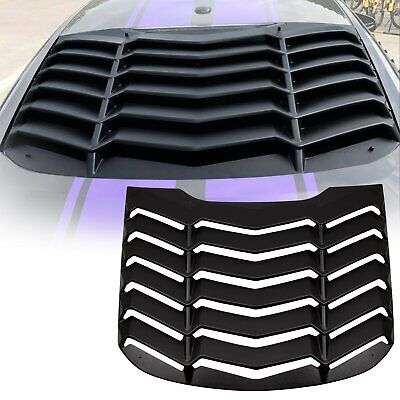 Textured ABS Rear Window Louver Sun Shade Cover for 2015-2018 Ford Mustang