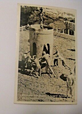 Nos Vintage Construction Workers Concrete Grand Coulee Dam Real Photo Postcard