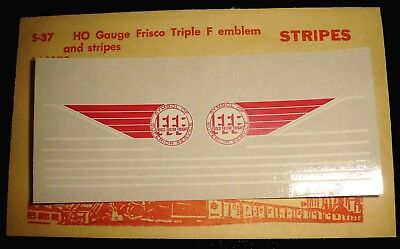 "Champ, Sl-Sf, Frisco, Red & White Triple ""F"" Emblem & Stripe Ho Decals, S-37"