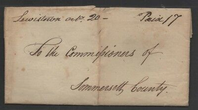 eStampsNet - Stampless Letter re. Prothonotary S. Edmeston Lewistown PA 1805