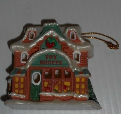 Avon Gift Collection Snow Frost Falls Victorian Village Light Cover Toy Shoppe