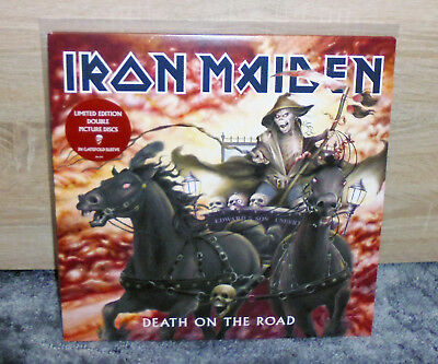 Iron Maiden - Death On The Road Live - Rare 2 Lp Picture Vinyl 2005 Unplayed