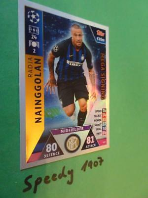 Topps Champions League 2018 2019 MEGA Signing Nainggolan Inter Match Attax #425