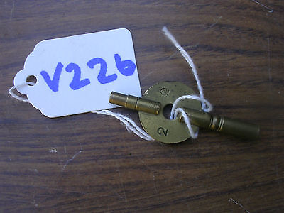 Double Ended Brass Clock Key