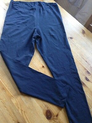 BNWT Ladies Navy Blue 16 R Maternity Leggings Mothercare