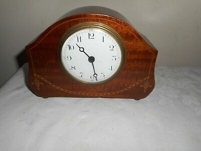 Antique, Mantle Clock in Beautiful Inlaid Case, Made in France. For Restoration.