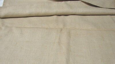 "Nearly 2 Yards Homespun Linen Fabric 23 1/2"" Wide"