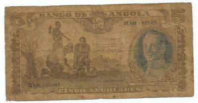billet  angola 5  angolares 1947  africa note