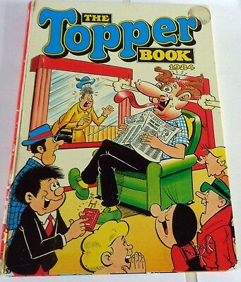 Vintage 1984  The Topper Book Comic Annual: Unclipped: D C Thomson