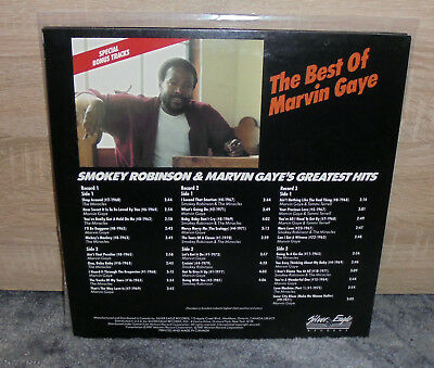 Marvin Gaye & Smokey Robinson - Greatest Hits - Rare 3Lp Vinyl 1987 Mint
