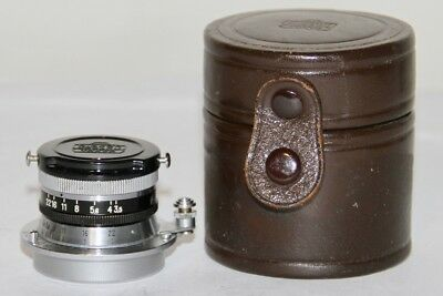 Nikon W Nikkor C 3.5cm f/3.5 M39 Leica Threadmount Very Nice Condition In Case