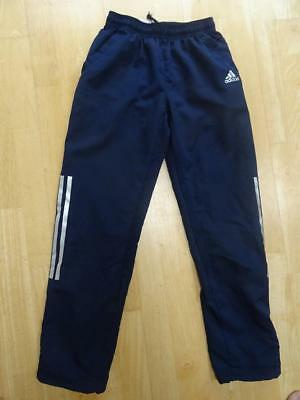 ADIDAS boys navy blue climacool tracksuit trousers AGE 11-12 YEARS AUTHENTIC