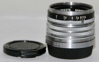 Nikon Nikkor H 5cm f/2 In M39 Leica Threadmount Correct For Nicca and Tower