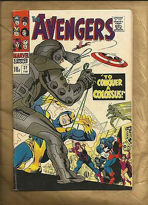 The Avengers  #37 vfn 1967 scarce British cover price silver age  Marvel Comics