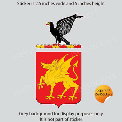 AR-2039  1st Cavalry Calvary Regiment COA Army Military Bumper Sticker Decal