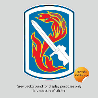 AR-2137 198th Infantry Brigade Army Car Bumper Sticker Vinyl Window Decal