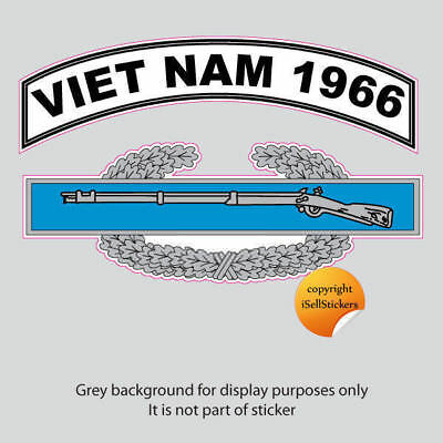 AR-2211 Army Viet Nam 1966 Combat Infantry Badge Bumper Sticker Car Window Decal