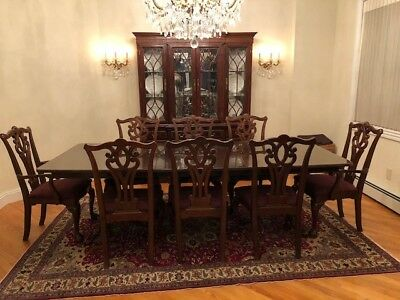 Dining room table set with cabinet to store china included