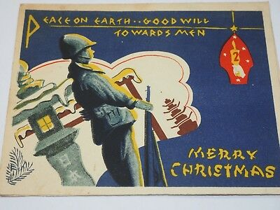 WWII 2nd marine division Christmas Card 1944
