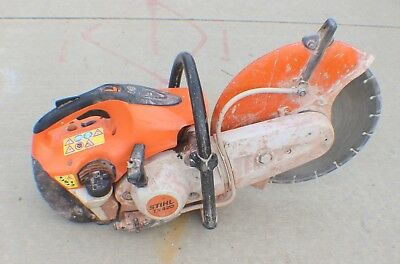 "STIHL TS 420 Concrete Cut-Off Saw with Water Line, 14"" Diamond Blade"