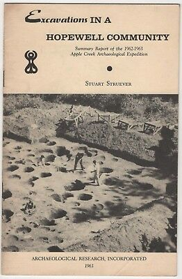 Hopewell Community Excavation Report 1962 Archaeology Native American Indian