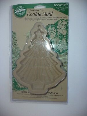 1997 Wilton Large Christmas Tree Cookie Stamp Mold New