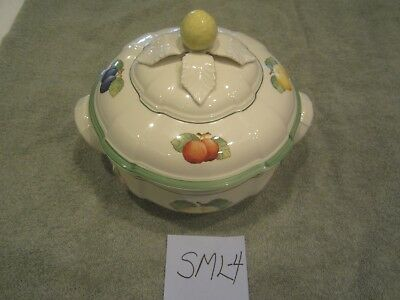 SML-4  Villeroy & Boch Small Covered Serving Dish French Garden Motif