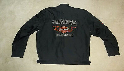 Mens~Harley Davidson~Size 2XL~Heavy Duty Nylon Shell Jacket~excellent condition