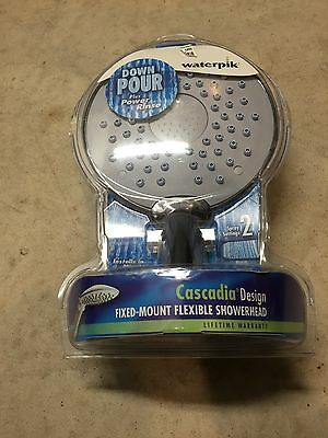 Water Pik Casadia Design Fixed Mount Flex 2 Spray Setting Showerhead (New in Box