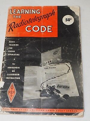 "LEARNING THE RADIOTELEGRAPH CODE""ARRL"" Booklet 1970"