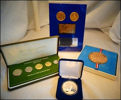 .999 Silver Medal--Gold Stamp--Bicentennial Coins--10 Coins/Medals--Proof & Mint