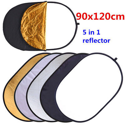 Photography 5 In1 Light Collapsible Portable Photo Reflector 90 X 120cm Diffuser