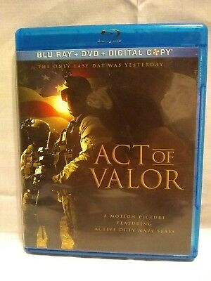 Act of Valor  Exclusive Blu-ray / DVD 2-disc set near mint condition