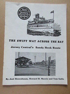 NEW JERSEY CENTRAL - SANDY HOOK ROUTE history brochure booklet VINTAGE