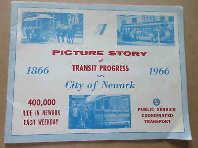 PUBLIC SERVICE Picture Story of Transit Progree CITY of NEWARK 1966 booklet