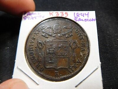 K335 Italy Papal States 1844 Baiocco