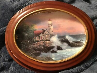 Thomas Kincade plate Hope's Cottage numbered first issue with frame, lighthouse