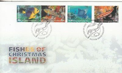 2013 Fishes of Christmas Island set 4 stamps on  first day cover. Going cheap