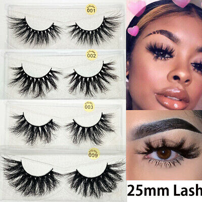SKONHED 3D Mink Hair False Eyelashes Wispy Cross Lashes Fluffy Extension Hot HQ