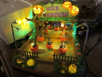 Lemax Spooky Town Halloween House musical Wild Pumpkin Ride musical Sound