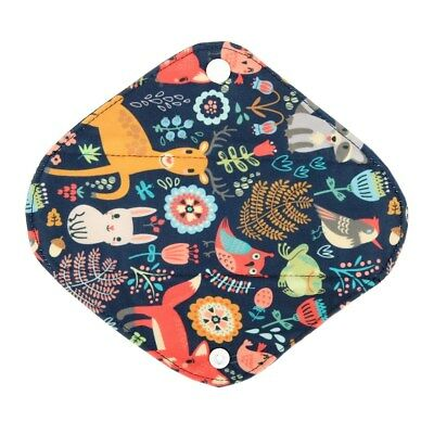 Panty Liner Bamboo Charcoal Mama Cloth Menstrual Sanitary Pad Forest Fox 8in S