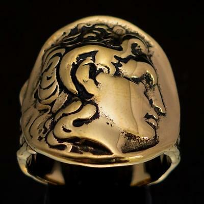 Bronze Mens Costume Ring Alexander The Great Ancient Tetradrachm Coin Any Size